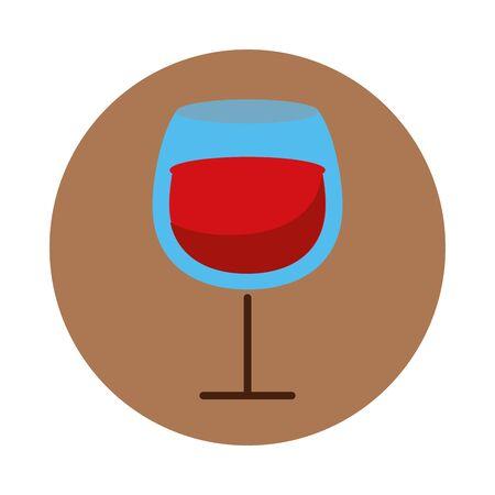 wine cup drink isolated icon vector illustration design Ilustração