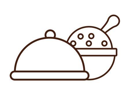tray server dish isolated icon vector illustration design Ilustração
