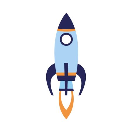 space rocket icon over white background, vector illustration 向量圖像