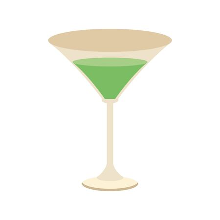 martini cocktail icon over white background, vector illustration