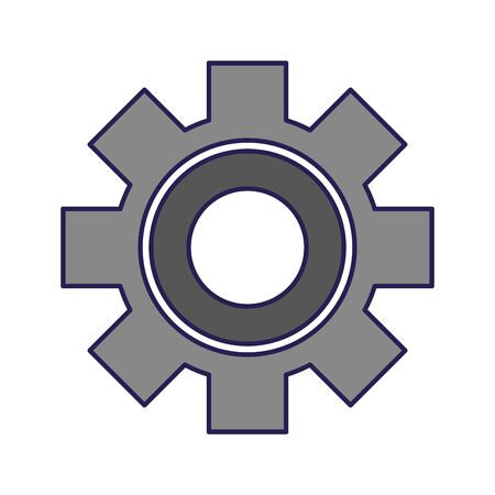 gear wheel icon over white background, vector illustration