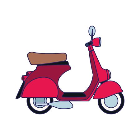 classic motorcycle icon over white background, vector illustration Иллюстрация