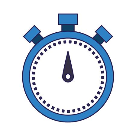 chronometer icon over white background, vector illustration Ilustrace