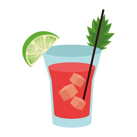 bloody mary cocktail icon over white background, vector illustration
