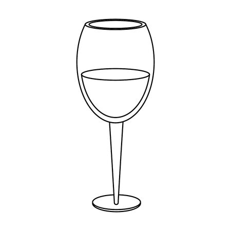 wine of glass icon image over white background, vector illustration