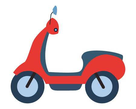 Scooter motorcycle vehicle sideview cartoon vector illustration graphic design.