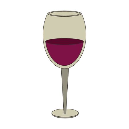 wine of glass icon image over white background, colorful design. vector illustration