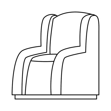 House with sofa chair furniture vector illustration graphic design