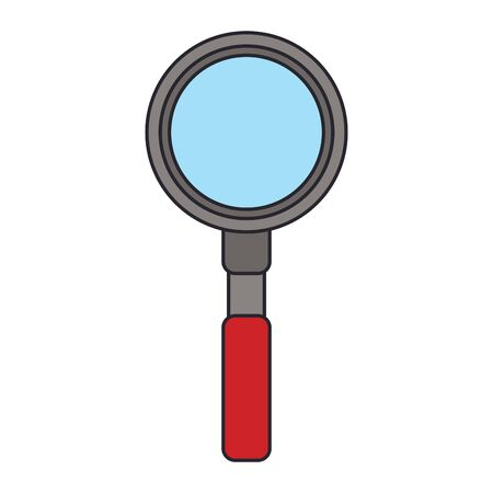magnifying glass icon over white background, vector illustration 스톡 콘텐츠 - 133758084