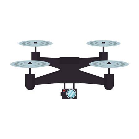 air drone remote control technology black device cartoon vector illustration graphic design