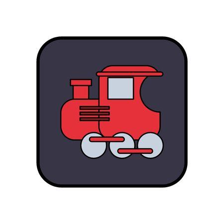 little train toy isolated icon vector illustration design