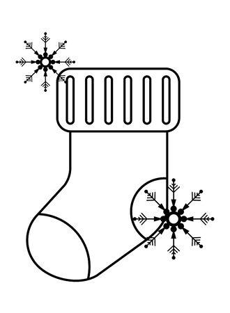 merry christmas sock decorative icon vector illustration design Ilustração