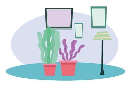 Decorative set of plant pots cartoons ,vector illustration graphic design.