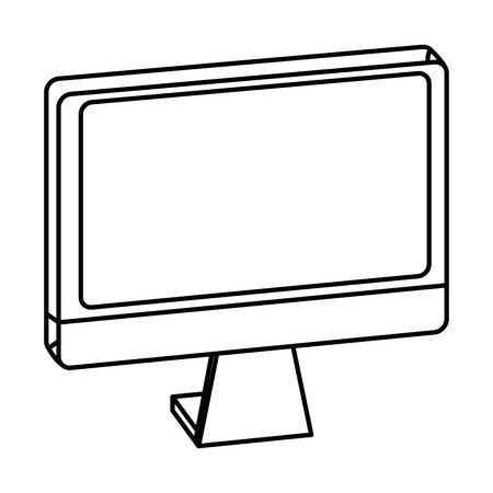 Computer screen hardware isometric symbol ,vector illustration graphic design.