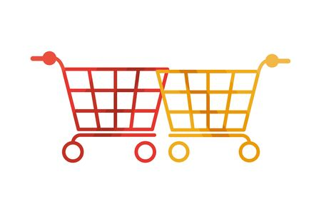 shopping carts market isolated icons vector illustration design