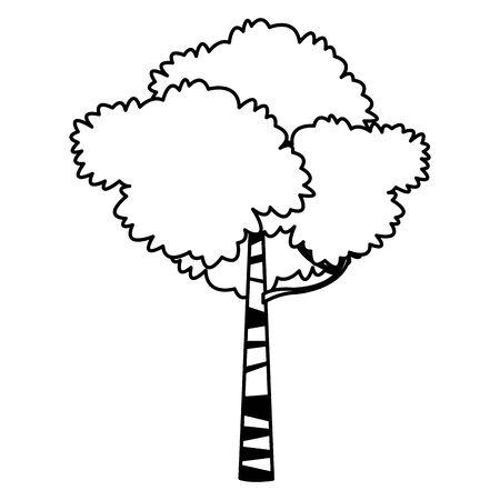 green leafy tree icon cartoon isolated vector illustration graphic design