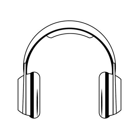headphones icon over white background, vector illustration