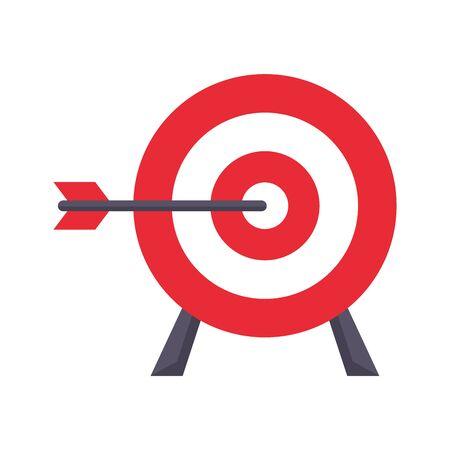 shooting target objetive goal cartoon vector illustration graphic design