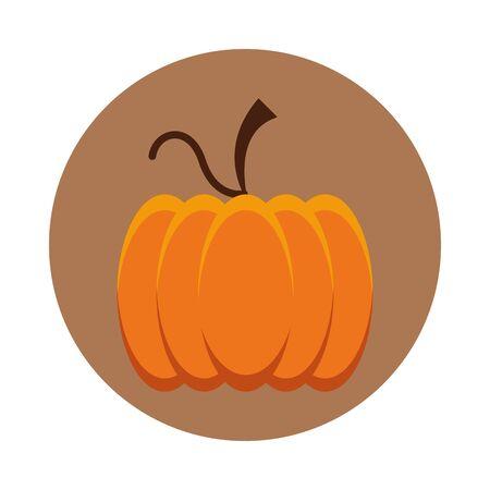 thanksgiving pumpkin vegetable isolated icon vector illustration design Illusztráció