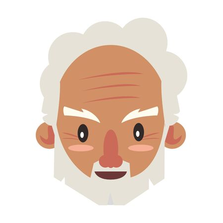 grandparent senior old retirement grandfather face cartoon vector illustration graphic design