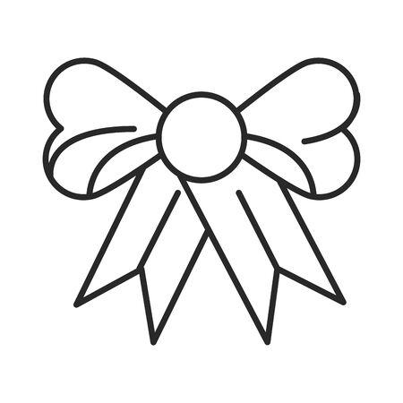 ribbon bow tie decorative icon vector illustration design Illusztráció