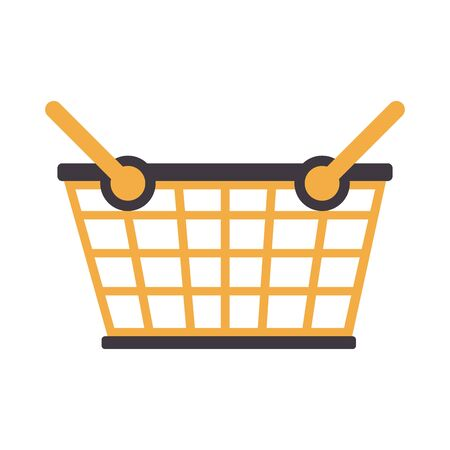 shopping commerce business sales, store basket cartoon vector illustration graphic design