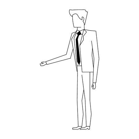 executive business finance worker man cartoon vector illustration graphic design