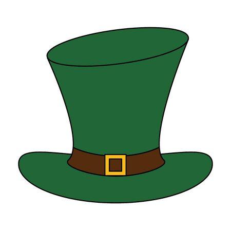 saint patricks day irish tradition leprechaun hat isolated cartoon vector illustration graphic design Ilustracja