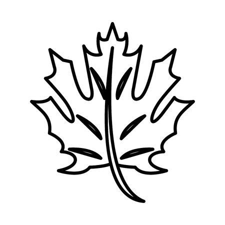 thanksgiving leaf plant autumn icon vector illustration design