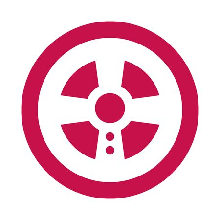 video game car wheel control vector illustration design