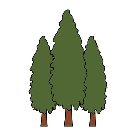 pine trees icon over white background, vector illustration Banque d'images - 133848960