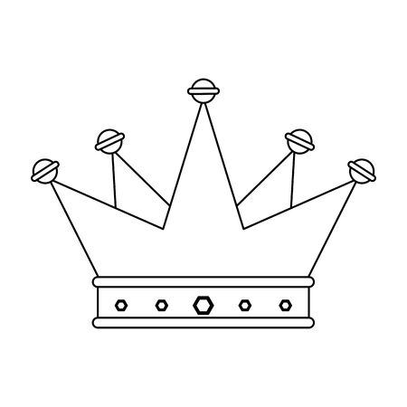 crown king luxury jewel cartoon vector illustration graphic design