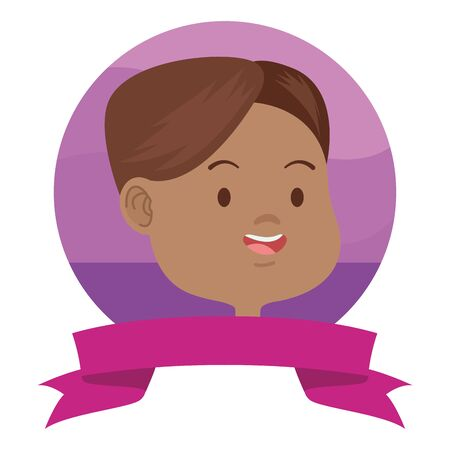 young afro woman avatar character icon vector illustration design