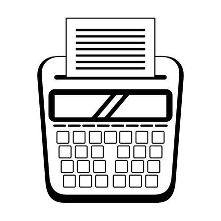 personal finance calculator with receipt cartoon vector illustration graphic design