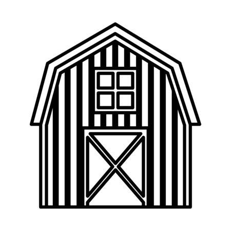 farm stable building isolated icon vector illustration design Ilustración de vector