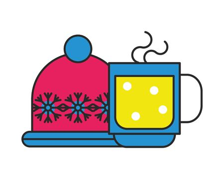 merry christmas chocolate mug icon vector illustration design Illusztráció