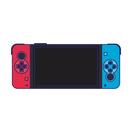 Modern videogame console portable with screen and buttons vector illustration graphic design Ilustrace