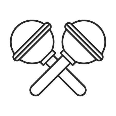 cute maracas musical instrument icon vector illustration design