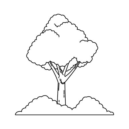 tree and bushes icon over white background, vector illustration Banque d'images - 133853312