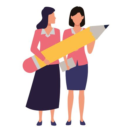 Two business partners working, executive entrepreneur teamwork ,vector illustration graphic design. Stock Vector - 133855804