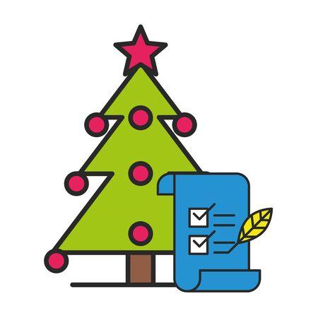 merry christmas pine tree icon vector illustration design