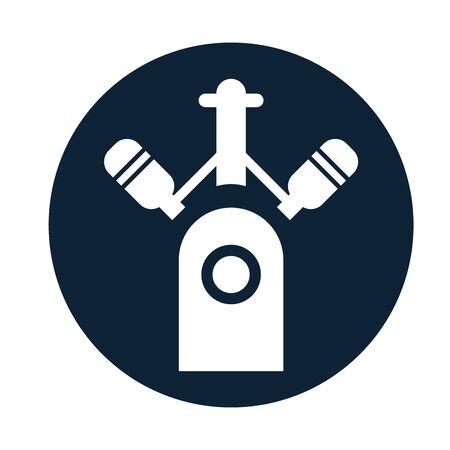 car assembly piece flat icon vector illustration design Çizim