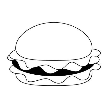 Fast food hamburger food symbol vector illustration graphic design Ilustracja