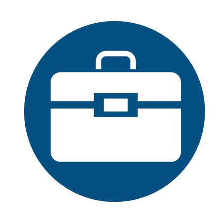mechanic toolbox flat style icon vector illustration design Illustration