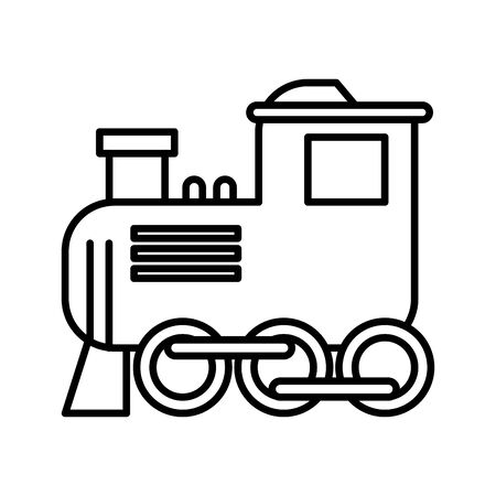 little train toy isolated icon vector illustration design