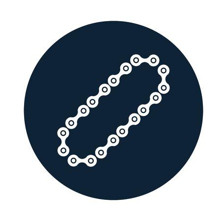 car chain assembly piece flat icon vector illustration design Ilustración de vector
