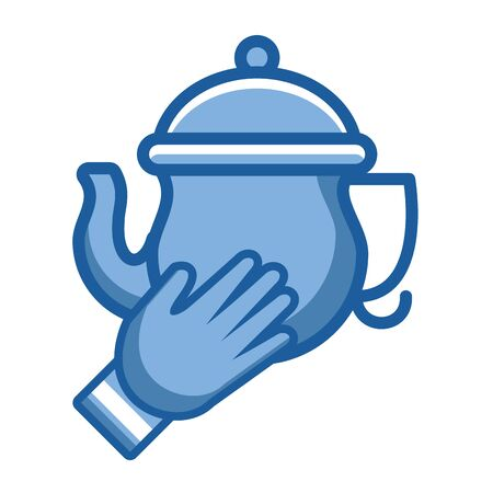 kitchen teapot ceramic utensil icon vector illustration design Banque d'images - 133855901