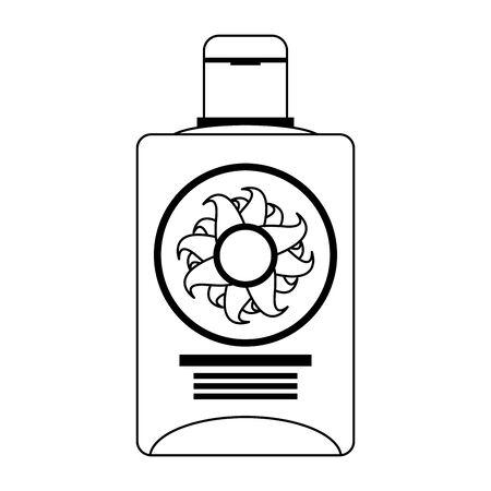 Sun bronzer bottle isolated cartoon vector illustration graphic design Standard-Bild - 133977819