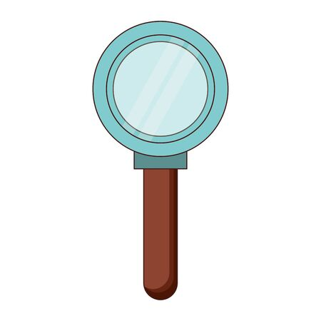 Magnifying glass search symbol isolated vector illustration graphic design