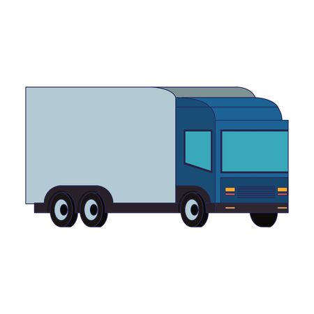 Cargo truck vehicle isolated symbol vector illustration Illusztráció